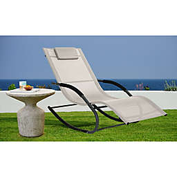 Relax-A-Lounger™ Ted Outdoor Rocking Lounger in Beige