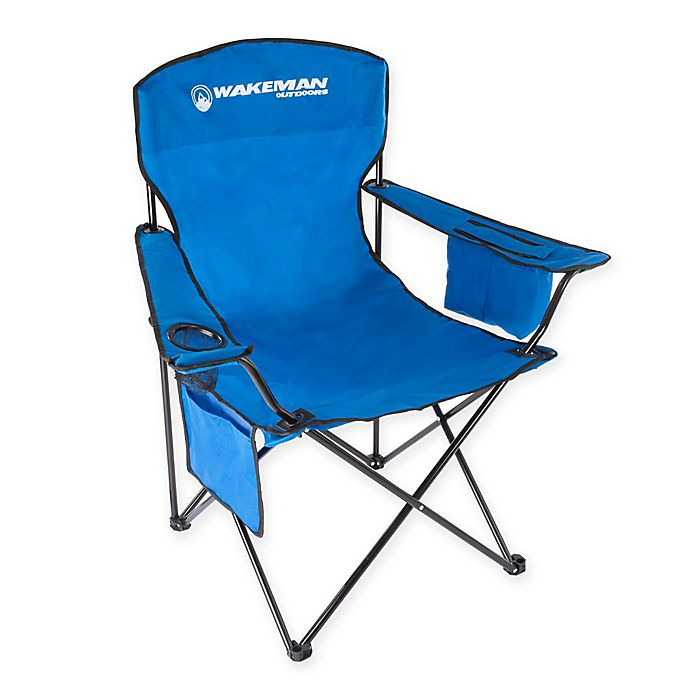 Alternate image 1 for Wakeman Oversized Camping Chair in Blue