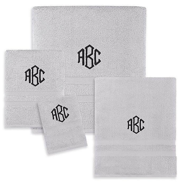 Alternate image 1 for Monogrammed Wamsutta® Hygro® Duet Bath Towel Collection