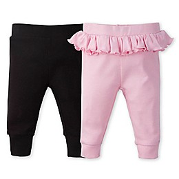 Gerber® 2-Pack Ruffle Pants in Pink/Black