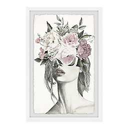 Marmont Hill Smokey Flower Crown Framed Wall Art