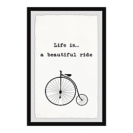 Marmont Hill Life Is a Beautiful Ride-Bicycle Framed Wall Art