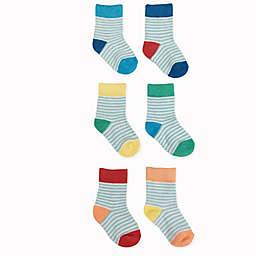 NYGB™ 6-Pack Striped Socks in Blue