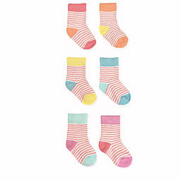 NYGB™ 6-Pack Striped Socks in Pink