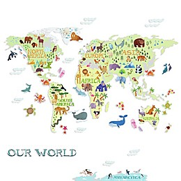RoomMates® Kids World Map Peel and Stick Wall Decals