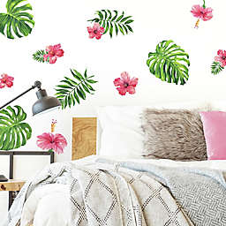 RoomMates® Tropical Hibiscus 13-Count Peel and Stick Wall Decals