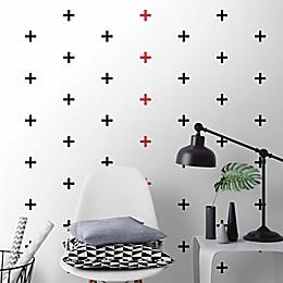 Roommates® Mini X Peel & Stick Wallpaper in Black