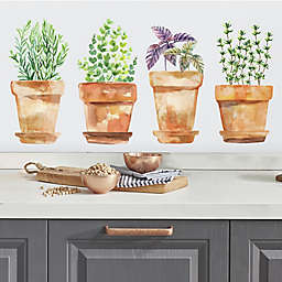 Roommates® Watercolor Potted Herbs Peel & Stick Vinyl Wall Decals