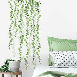 RoomMates® String of Pearls Vine 8-Inch x 35-Inch Wall Decals in Green