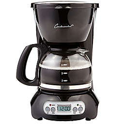 Continental Electric 4-Cup Digital Coffee Maker in Black