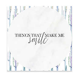 "Haus of Arte ""Make Me Smile"" 12-Inch Square Dry Erase Board"