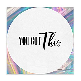"Haus of Arte ""You Got This"" 12-Inch Square Dry Erase Board"