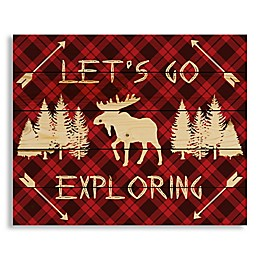 Designs Direct Let's Go Exploring 22-Inch x 17.81-Inch Wood Wall Art