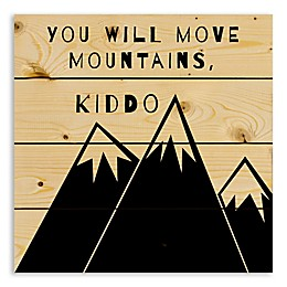 Designs Direct Kiddo, You Will Move Mountains 14.25-Inch Square Wood Wall Art