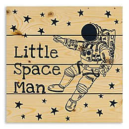 Designs Direct Little Space Man 14.25-Inch Square Wood Wall Art
