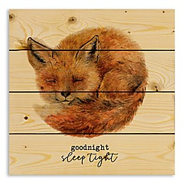 Designs Direct Goodnight, Sleep Tight 14.25-Inch Square Wood Wall Art