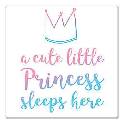 "Designs Direct ""Cute Lil Princess Sleeps"" Canvas Wall Art"