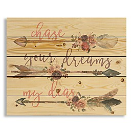 Designs Direct Chase Your Dreams 22-Inch x 17.81-Inch Wood Wall Art