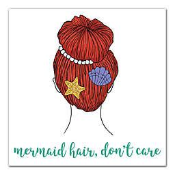Designs Direct Mermaid Hair 16-Inch Square Canvas Wall Art