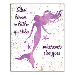 Designs Direct She Leaves Sparkle 16-Inch x 20-Inch Canvas Wall Art