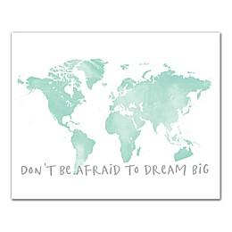 "Designs Direct ""Dream Big Map"" Canvas Wall Art in Blue"