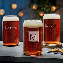 Classic Celebrations Engraved 16 oz. Beer Can Glass