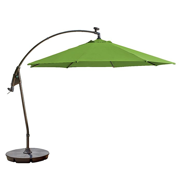 11 Foot Round Solar Cantilever Umbrella In Sunbrella Fabric Bed Bath Beyond
