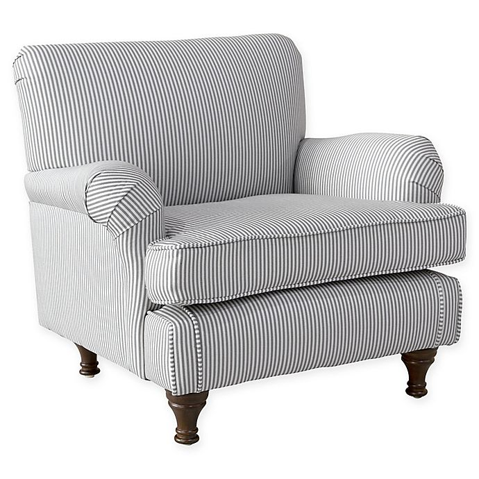 Skyline Furniture Sherman Kids Chair In Grey Bed Bath