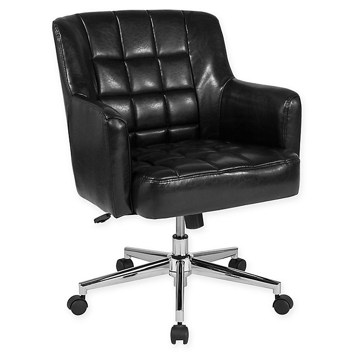 Alternate image 1 for Flash Furniture Faux Leather Swivel Laone Office Chair in Black