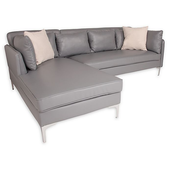 Flash Furniture L-Shaped Sectional Sofa with Chaise | Bed ...