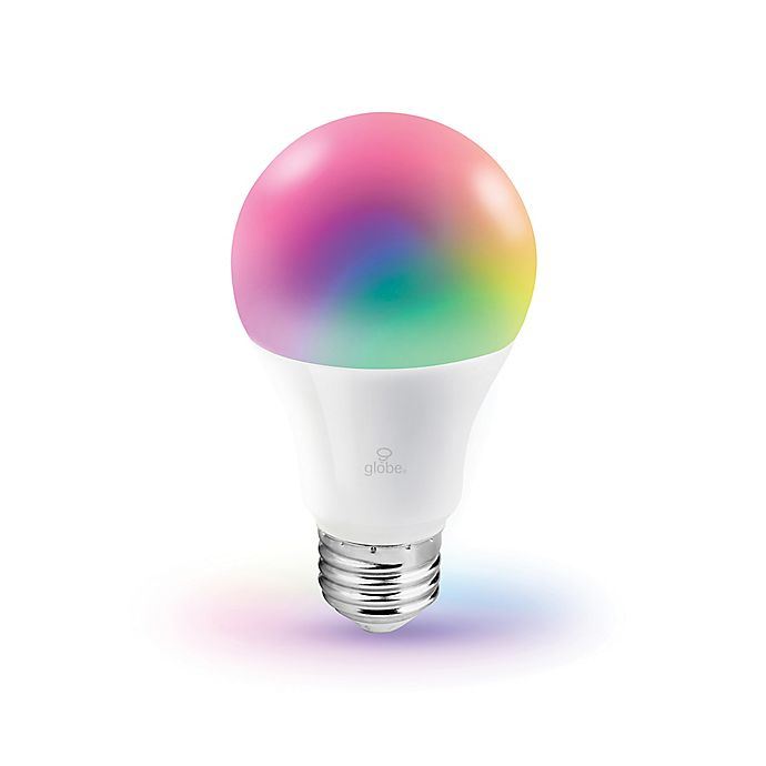 Alternate image 1 for Globe Electric Smart Wi-Fi 60-Watt Equivalent A19 Color Changing Tunable LED Bulb in White