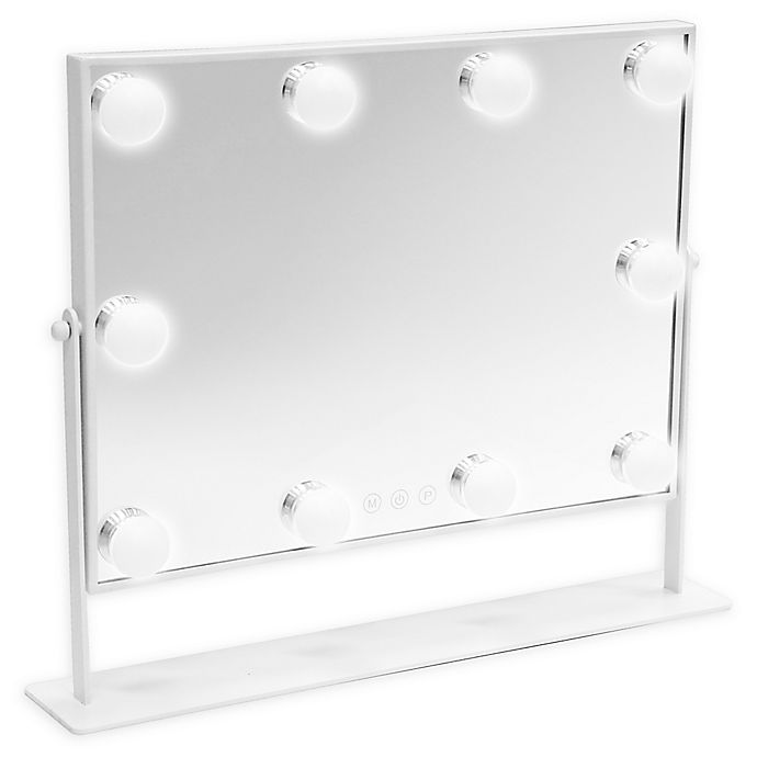 Alternate image 1 for DANIELLE Hollywood 1X LED Large Makeup Mirror