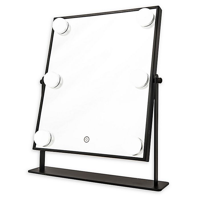 Alternate image 1 for DANIELLE Hollywood 1x 6-Light LED Vanity Mirror in Black