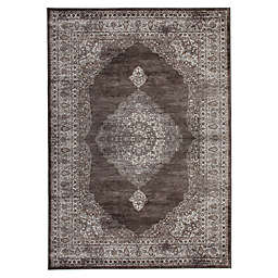 Abacasa Sonoma Bryson Tufted Area Rug in Chocolate/Silver