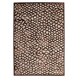 Abacasa Sonoma Corliss Tufted Area Rug in Chocolate/Grey