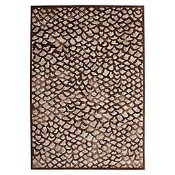 Abacasa Sonoma Corliss Tufted Area Rug in Chocolate/Grey