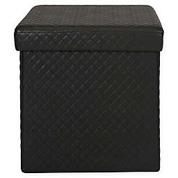 Simplify Quilted Foldable Storage Ottoman