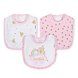 Gerber® 3-Pack Terry Blend Princess Bibs in Pink