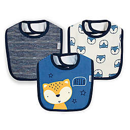 Gerber® 3-Pack Animal Cotton Bibs in Blue