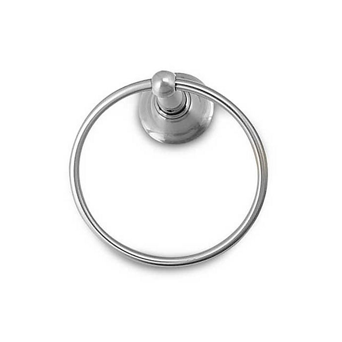 Alternate image 1 for Inspirations™ Sage™ Collection Brushed Nickel Towel Ring