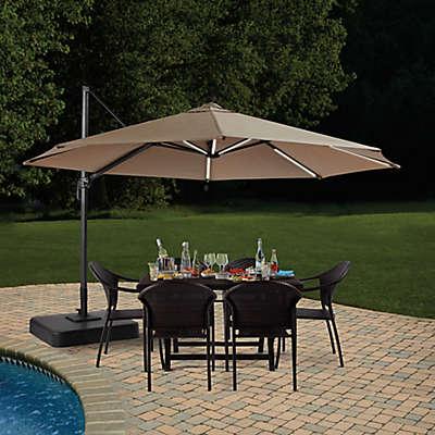 11-Foot Round Solar Cantilever Umbrella