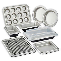 Anolon® Allure™ Nonstick 10-Piece Bakeware Set in Onyx/Pewter