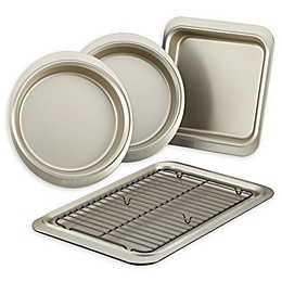 Anolon® Allure™ Nonstick 5-Piece Bakeware Set in Onyx/Pewter