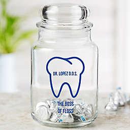 Dentist Icon Personalized Treat Jar