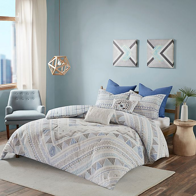 Alternate image 1 for Urban Habitat Rochelle King/California King Reversible Comforter Set in Blue