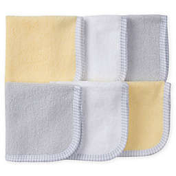 Gerber® 6-Pack Woven Washcloths in Grey/Yellow