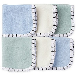Gerber® 6-Pack Woven Washcloths in Blue/Green
