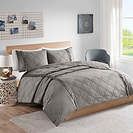 Intelligent Design Shyla Solid Coverlet Set