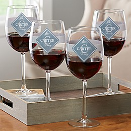 Family Winery Personalized Red Wine Glass