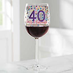 Confetti Cheers Personalized Birthday Red Wine Glass